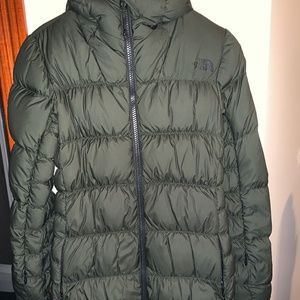 NORTH FACE QUILTED TECH FABRIC DOWN JACKET! XS!